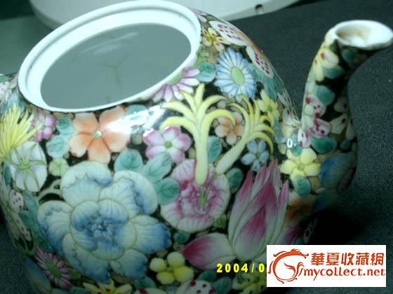 大清乾隆年制茶壶图片