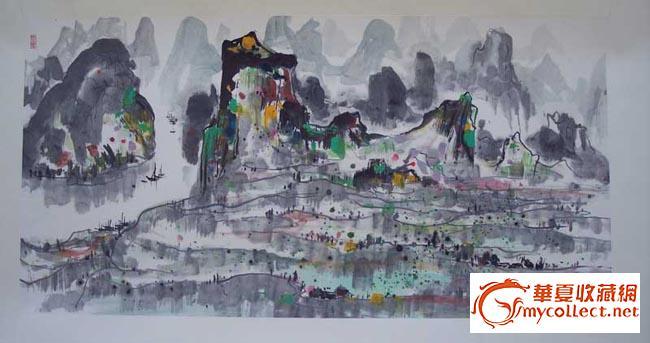儿童绘画桂林山水