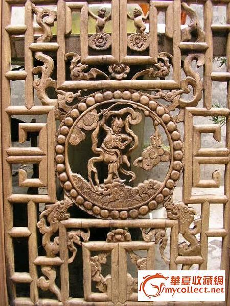 清代木雕窗花-图1