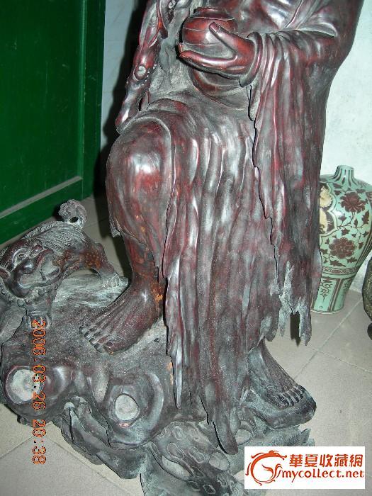 酸枝木雕达摩像