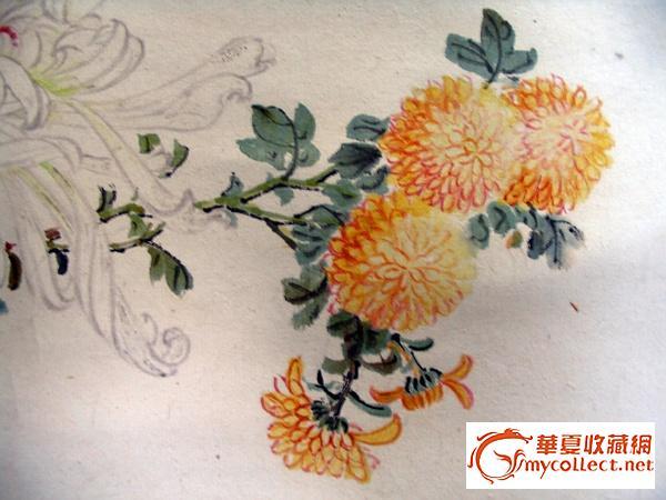 屈贞的菊花图