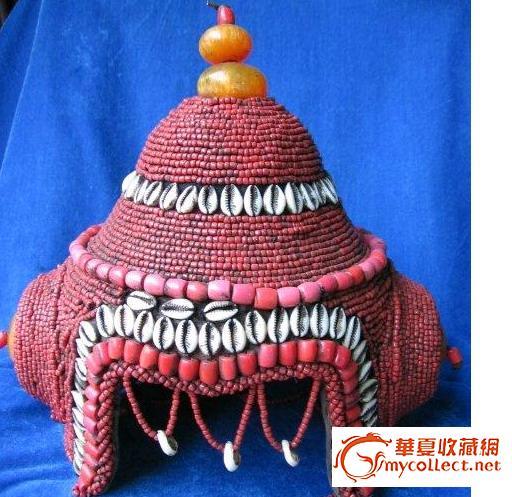 蒙古族帽子矢量图手绘