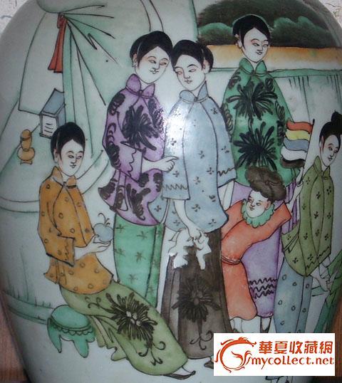 这些民国时装画冬瓜罐是我数年历经辛苦淘得.