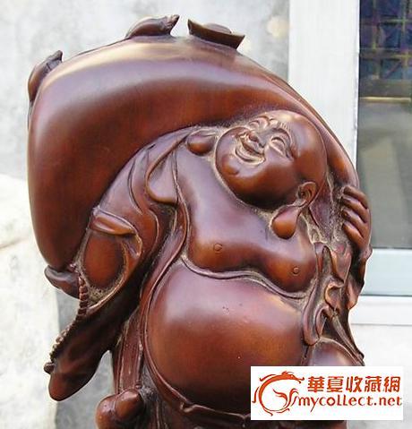 黄杨木木雕布袋和尚