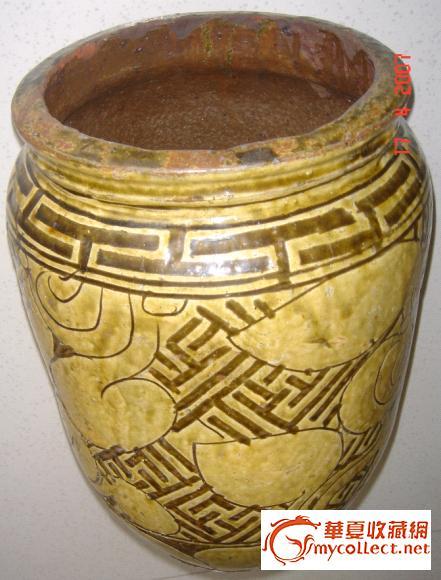 陶罐花纹手绘简单