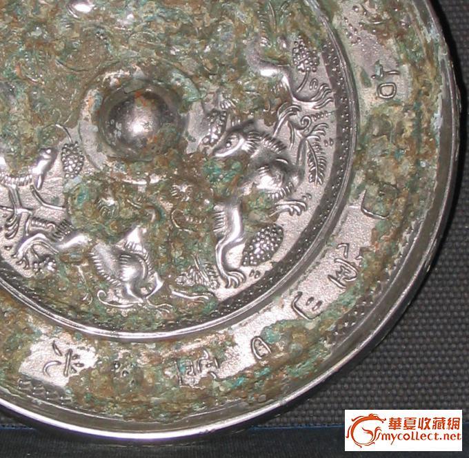 古代铜镜矢量图