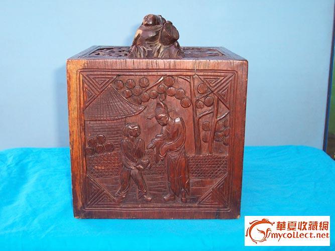 清代晚漂亮的红木雕刻竹背麻将牌评估