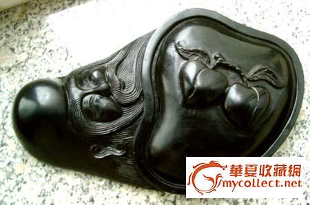 砚台雕刻煤精寿星酷优spa教程视频图片