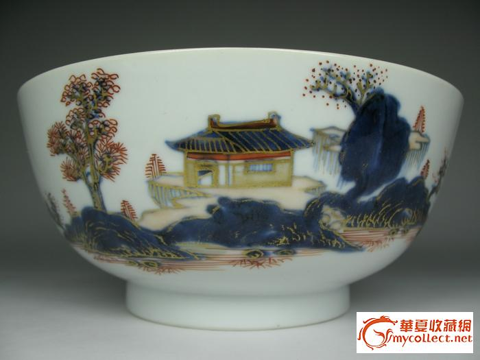 桃花瓷碗手绘图