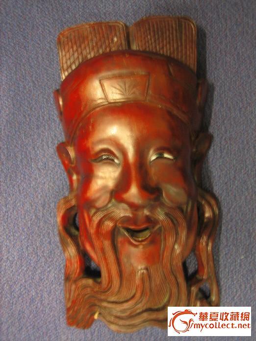 木雕关公头像-图1