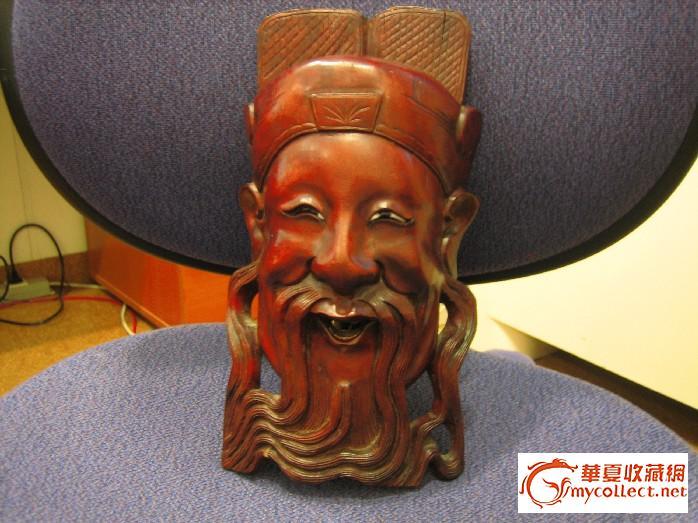 木雕关公头像-图2