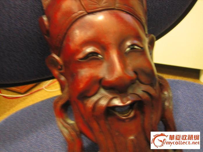 木雕关公头像-图3