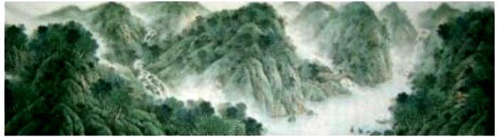 森林高山万古传>>,画家的画笔很细