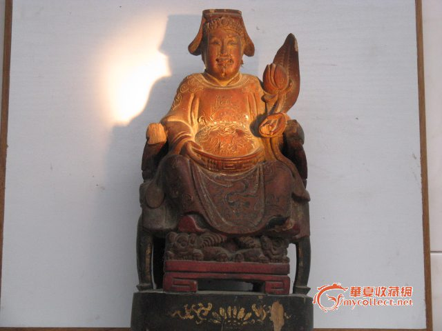 每日一神像之2 清代木雕