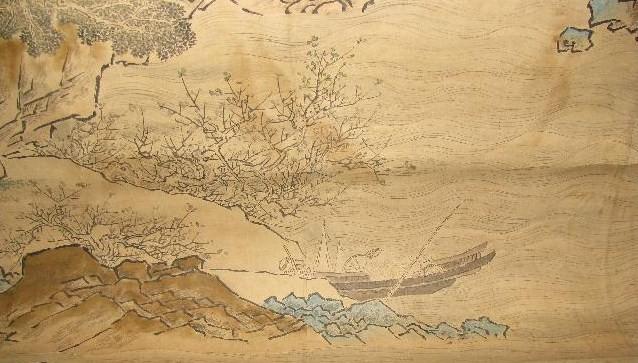 大幅古画----山水图图片