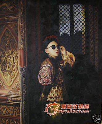 油画中国小皇帝.