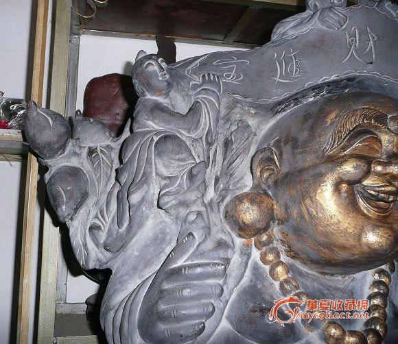 紫檀木雕弥勒佛像图片