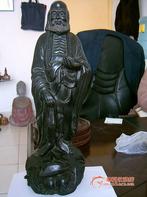 达摩渡海雕像,紫乎?乌乎?