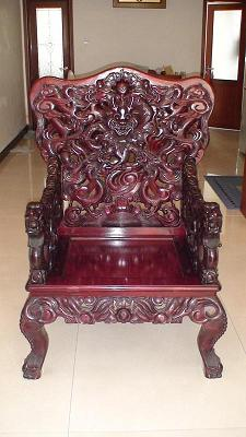 红木九龙宝座〔红木雕刻制作五大件〕(二)图片