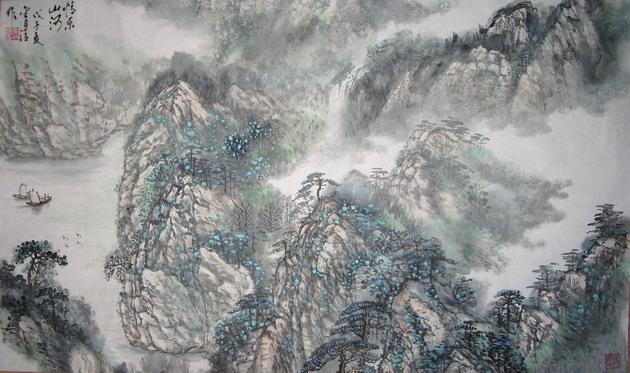 胡小村山水画家