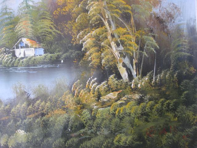 潘鸿海油画,水乡风景
