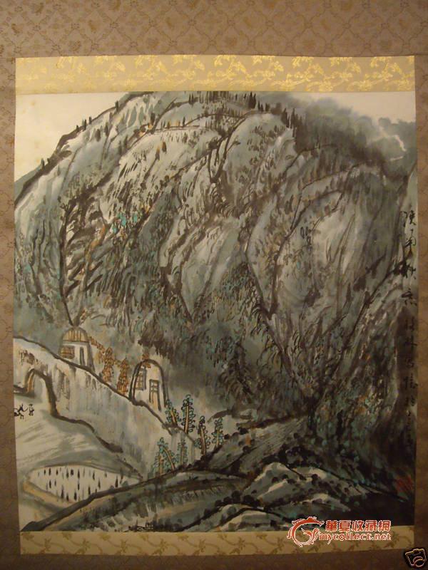 海外七宝 清代一幅红木木框木板朱红大漆画共赏 bao9999 木胎剔红雕漆