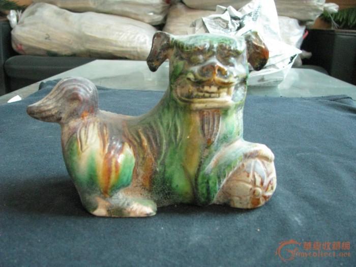 瓷器动物狮子图片