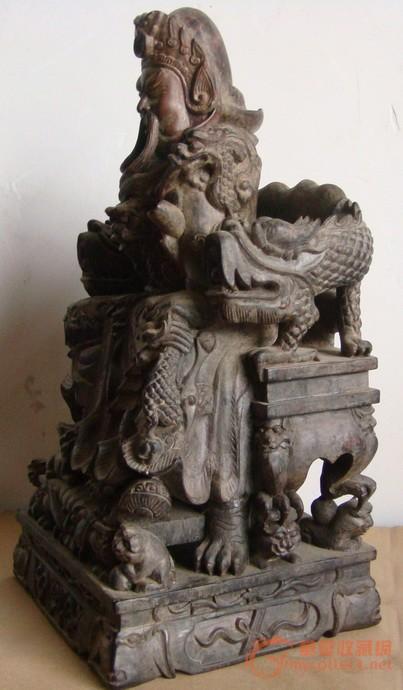 木雕大师阮金作品关公欣赏