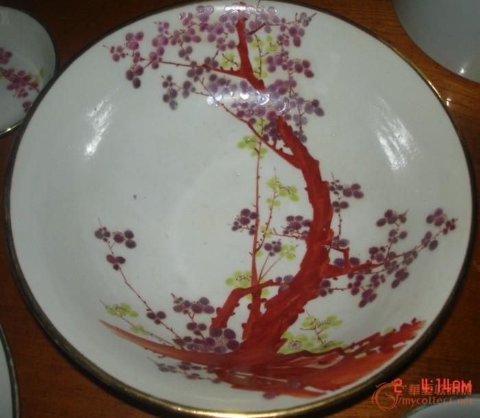 民国江西明华瓷社一套嫁妆餐具56件_民国江