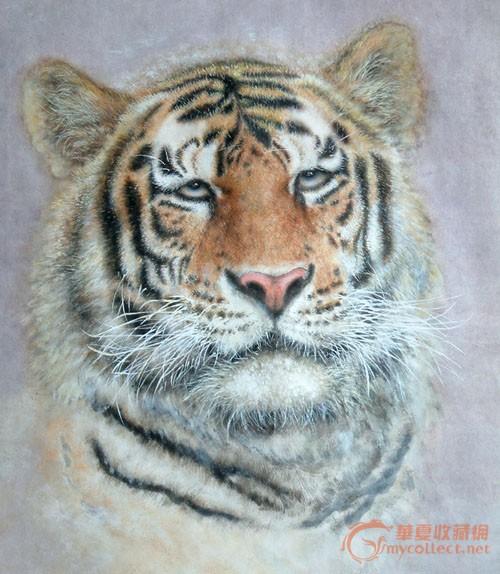 壁纸 动物 国画 虎 老虎 桌面 500_574