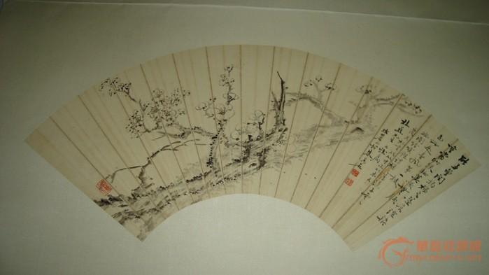 藏在扇子上画梅花的简笔画图片