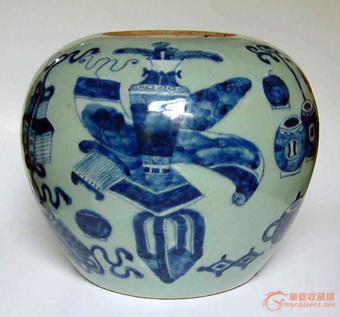 葫芦丝谱子青花瓷展示