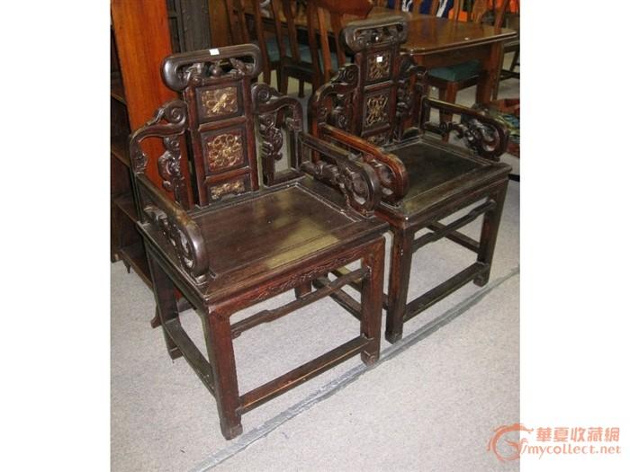 清代 红木椅子一对