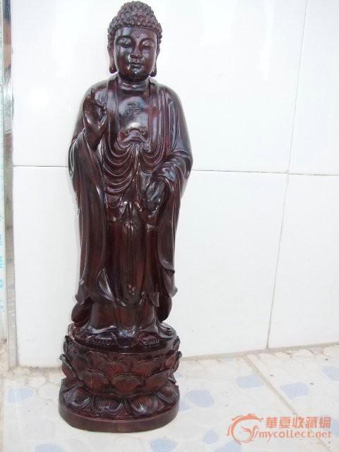 非洲大叶紫檀木雕佛祖