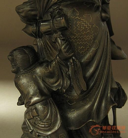 木雕嵌银寿星