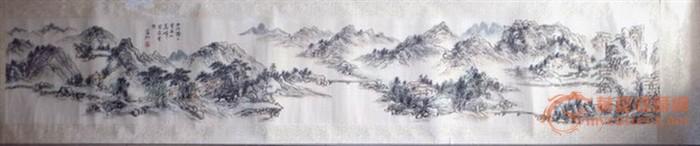 黄宾虹山水画长卷图片