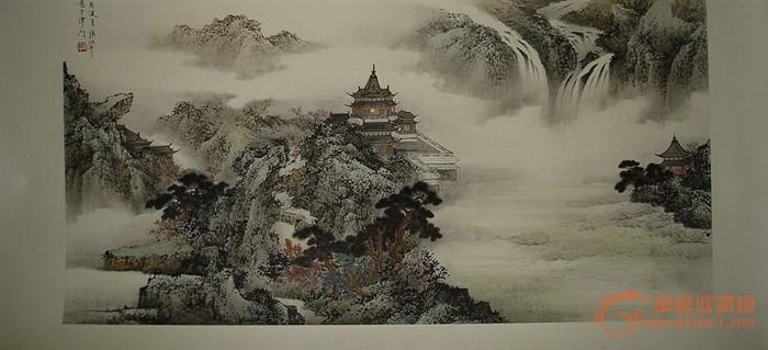 横幅上山虎国画