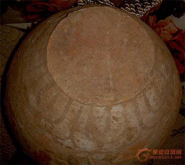 唐代红陶彩绘美女瓶
