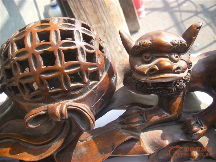 狮子绣球木雕