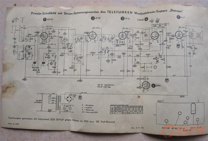 德国德律风根电子管收音机