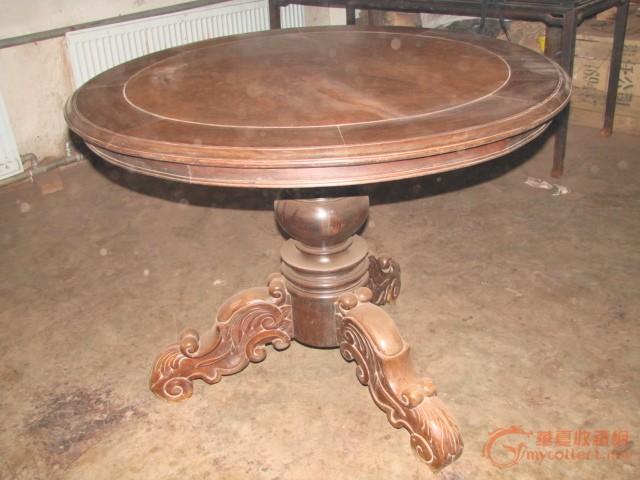 老红木镶影子木大圆桌