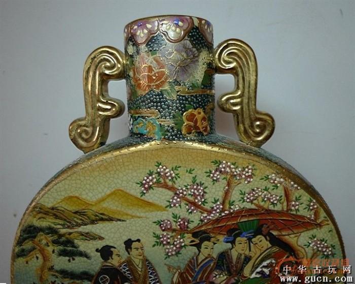 描金彩绘花瓶-图3
