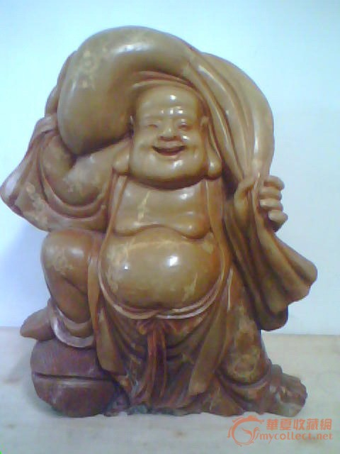 玉石雕刻弥勒佛财神爷