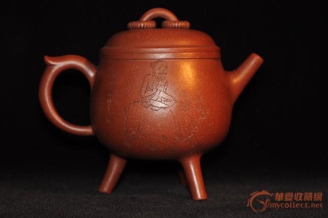 精美绝伦老紫砂壶,三足仿青铜器造型图片