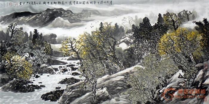 【漓江画院】国画山水画.省美协会员四尺作品