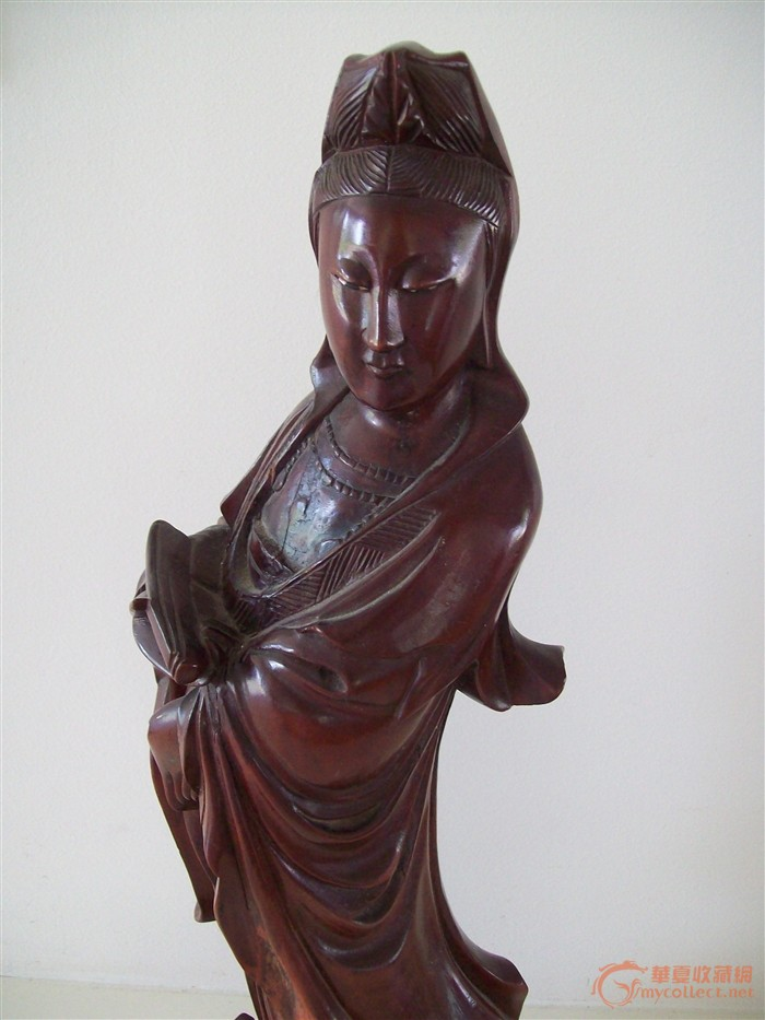木雕观音像一尊_木雕观音像一尊鉴定_来自藏友初学者