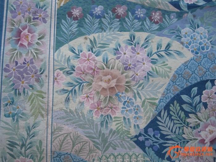 d21 庞薰琹(琴) 70年印刷厂设计的装饰水粉画4幅4-4