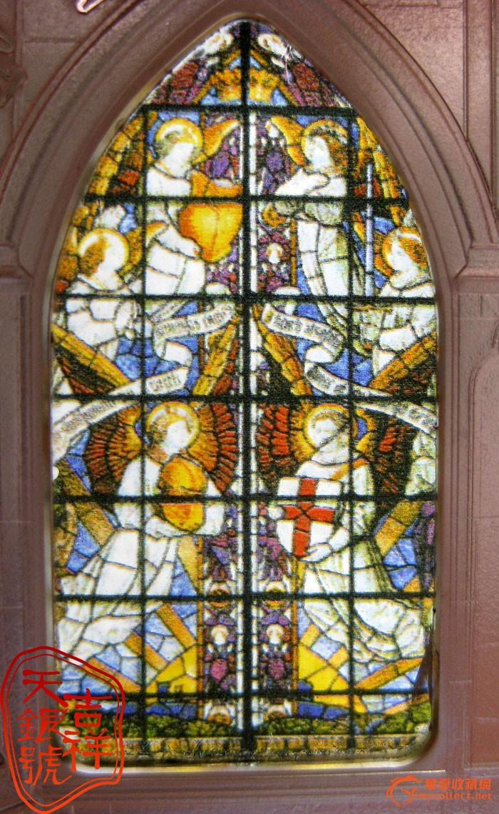 签名王  品名:2011库克群岛发行伦敦天堂之窗威斯敏斯特教堂精制镶