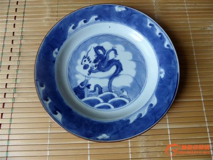 一件德化青花瓷盘子,请教年代