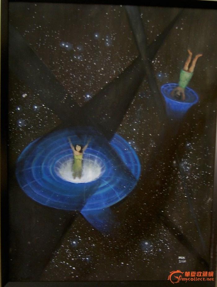 邹敏油画作品《时空旅行》作品欣赏